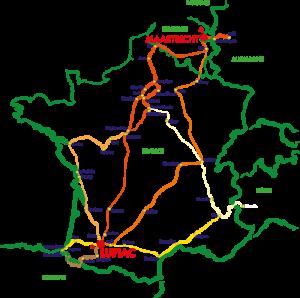 Plan de route equestre artagnan